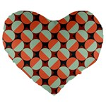 Modernist Geometric Tiles Large 19  Premium Flano Heart Shape Cushions Front