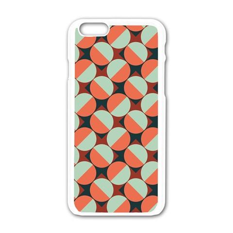 Modernist Geometric Tiles Apple iPhone 6/6S White Enamel Case