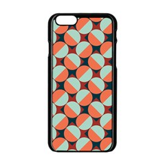 Modernist Geometric Tiles Apple iPhone 6/6S Black Enamel Case