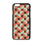 Modernist Geometric Tiles Apple iPhone 6/6S Black Enamel Case Front