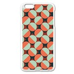 Modernist Geometric Tiles Apple iPhone 6 Plus/6S Plus Enamel White Case Front