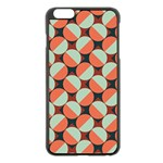 Modernist Geometric Tiles Apple iPhone 6 Plus/6S Plus Black Enamel Case Front