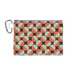 Modernist Geometric Tiles Canvas Cosmetic Bag (M) Front