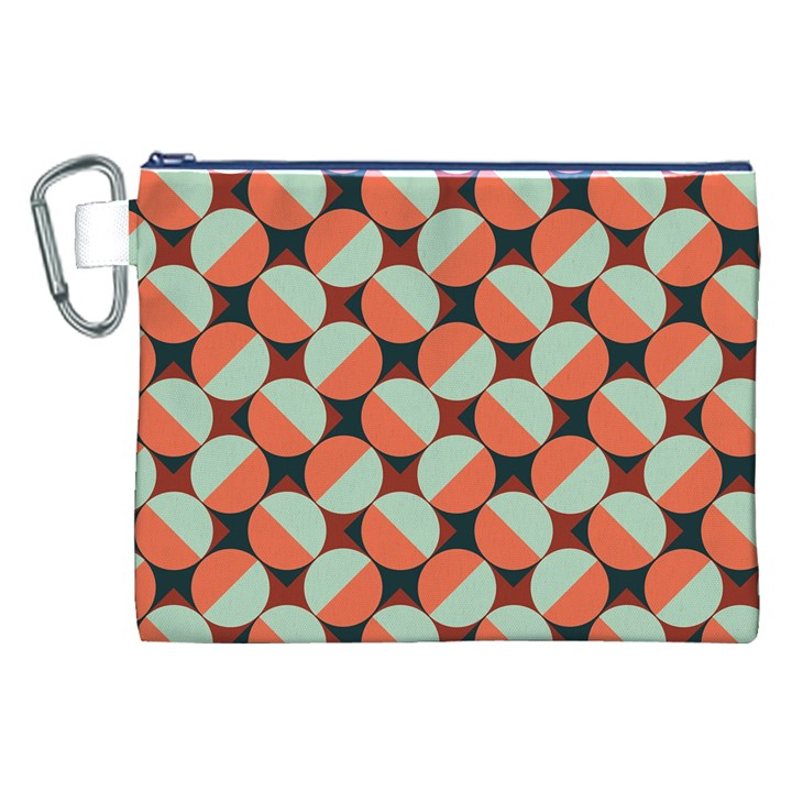 Modernist Geometric Tiles Canvas Cosmetic Bag (XXL)