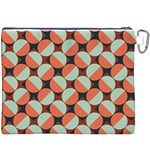 Modernist Geometric Tiles Canvas Cosmetic Bag (XXXL) Back