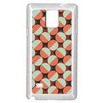 Modernist Geometric Tiles Samsung Galaxy Note 4 Case (White) Front