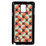 Modernist Geometric Tiles Samsung Galaxy Note 4 Case (Black) Front