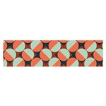 Modernist Geometric Tiles Satin Scarf (Oblong) Front