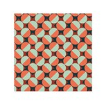 Modernist Geometric Tiles Small Satin Scarf (Square)  Front