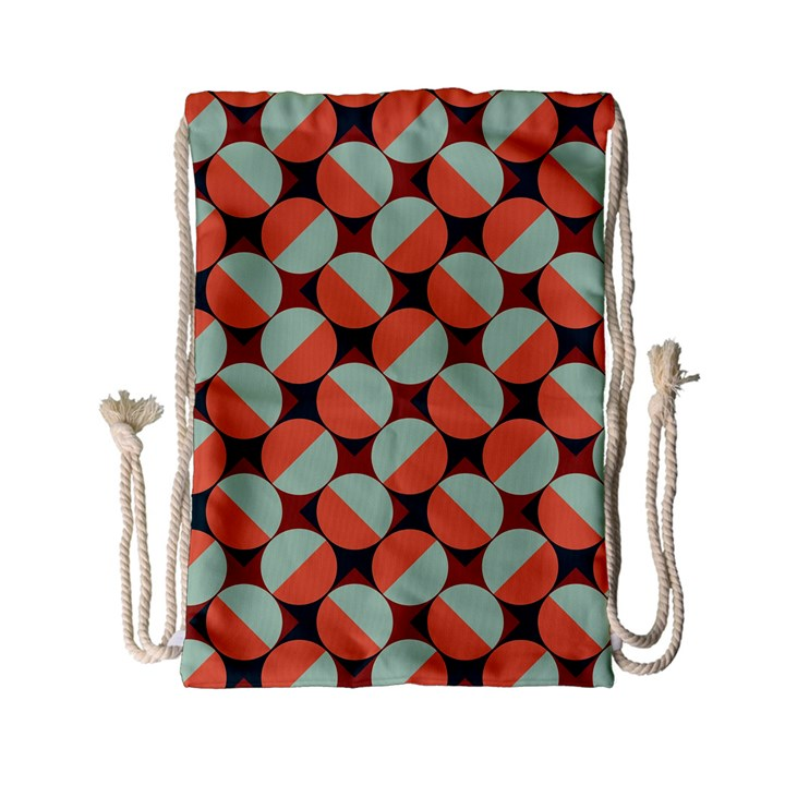 Modernist Geometric Tiles Drawstring Bag (Small)