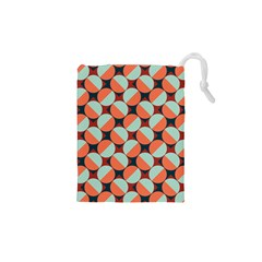 Modernist Geometric Tiles Drawstring Pouches (XS)