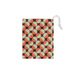 Modernist Geometric Tiles Drawstring Pouches (XS)  Front