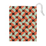 Modernist Geometric Tiles Drawstring Pouches (Extra Large) Front