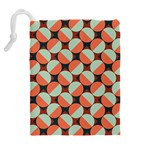Modernist Geometric Tiles Drawstring Pouches (Extra Large) Back