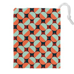 Modernist Geometric Tiles Drawstring Pouches (XXL)