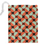 Modernist Geometric Tiles Drawstring Pouches (XXL) Back