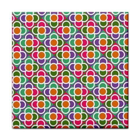 Modernist Floral Tiles Tile Coasters