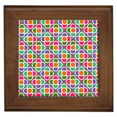 Modernist Floral Tiles Framed Tiles
