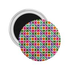 Modernist Floral Tiles 2.25  Magnets