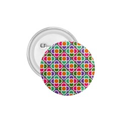 Modernist Floral Tiles 1 75  Buttons