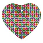 Modernist Floral Tiles Ornament (Heart)  Front