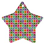 Modernist Floral Tiles Ornament (Star)  Front