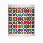 Modernist Floral Tiles White Mugs Center