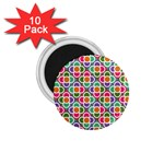 Modernist Floral Tiles 1.75  Magnets (10 pack)  Front