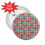 Modernist Floral Tiles 2.25  Buttons (100 pack)  Front