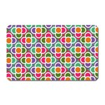 Modernist Floral Tiles Magnet (Rectangular) Front