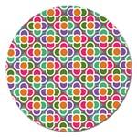 Modernist Floral Tiles Magnet 5  (Round) Front