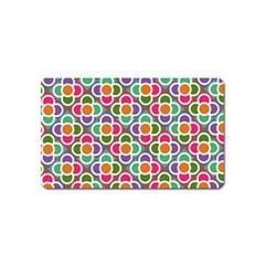 Modernist Floral Tiles Magnet (name Card)