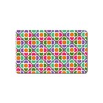 Modernist Floral Tiles Magnet (Name Card) Front