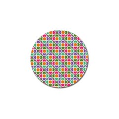 Modernist Floral Tiles Golf Ball Marker