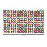 Modernist Floral Tiles Business Card Holders Front