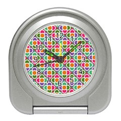 Modernist Floral Tiles Travel Alarm Clocks