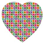 Modernist Floral Tiles Jigsaw Puzzle (Heart) Front