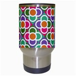 Modernist Floral Tiles Travel Mugs (White) Center