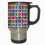 Modernist Floral Tiles Travel Mugs (White) Right