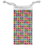 Modernist Floral Tiles Jewelry Bags Back