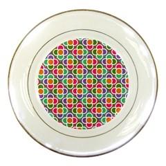 Modernist Floral Tiles Porcelain Plates