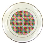 Modernist Floral Tiles Porcelain Plates Front