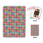 Modernist Floral Tiles Playing Card Back