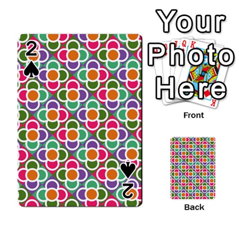 Modernist Floral Tiles Playing Cards 54 Designs