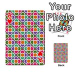 Modernist Floral Tiles Playing Cards 54 Designs  Front - HeartA