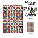 Modernist Floral Tiles Playing Cards 54 Designs  Front - ClubA