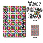 Modernist Floral Tiles Playing Cards 54 Designs  Front - Joker1