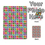 Modernist Floral Tiles Playing Cards 54 Designs  Back