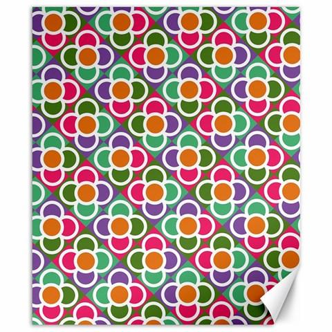 Modernist Floral Tiles Canvas 8  x 10