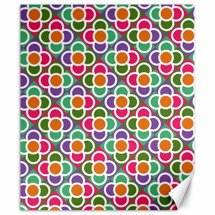 Modernist Floral Tiles Canvas 20  x 24